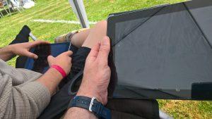 Dualing iPads! Mackie DL32R
